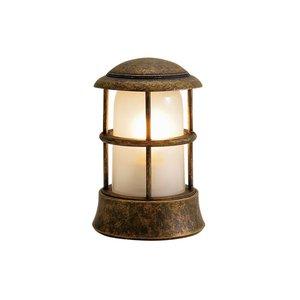 人気ブランドの ゴーリキアイランド 750115 真鍮製マリンランプ くもりガラス&LEDランプ BH1010MINI FR LE 古色 ポーチライト アンティーク レトロ, 中津川市 6982c926