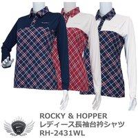 c2e1295367e6d ROCKY & HOPPER レディース長袖台衿シャツ RH-2431WL