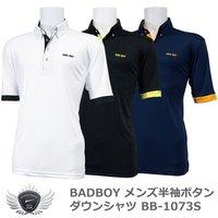 b7cf8fe38495f BADBOY バッドボーイ 袖口と前立てのアクセント メンズ半袖ボタンダウンシャツ BB-107.