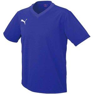 送料無料 PUMA プーマ ワンポイント半袖ゲームシャツ [カラー:パープル×ホワイト] [サイズ:M] #903291-06