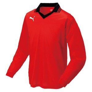 送料無料 PUMA 襟付き長袖ゲームシャツ [カラー:プーマレッド×ホワイト] [サイズ:L] #903300-03