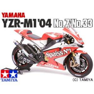 送料無料 TAMIYA タミヤ 1/12 オートバイシリーズ No.100 ヤマハ YZR-M1 '04 No.7/No.33