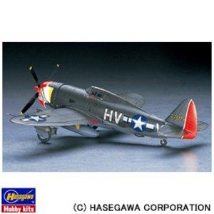 """送料無料 HASEGAWA ハセガワ 1/48 エアクラフトモデル JT57 P-47D サンダーボルト """"レザーバック"""" 1/48 P-47D THUNDERBOLT"""