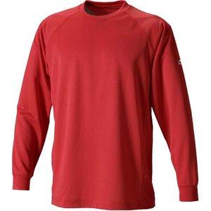 送料無料 PHITEN ファイテン RAKUシャツSPORTS(吸汗速乾)長袖 [カラー:レッド] [サイズ:3L] #JF900207