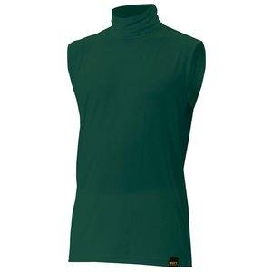 送料無料 ZETT ゼット 野球用 アンダーシャツ ライトフィット タートルネック・ノースリーブ [カラー:グリーン] [サイズ:XO] #BO7430A