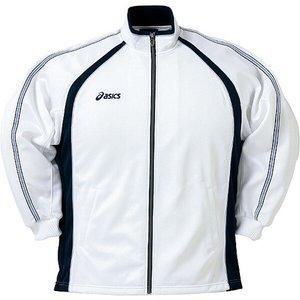 送料無料 ASICS アシックス トレーニング用 トレーニングジャケット エコファクトリー [カラー:ホワイト] [サイズ:S] #OWT105