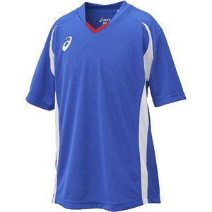 送料無料 ASICS アシックス サッカー用(ジュニア用) Jr.ゲームシャツHS [カラー:ブルー] [サイズ:130] #XS3140