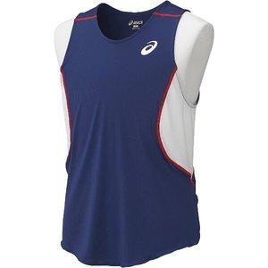 送料無料 ASICS アシックス 陸上競技用 プラクティスランニングシャツ XT6356 [カラー:ネイビーブルー] [サイズ:S] #XT6356