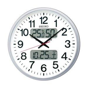 人気が高い  セイコークロック 電波掛時計オフィスタイプ カレンダー・温度湿度表示付 KX237S 1台, ナダク e3da2f71