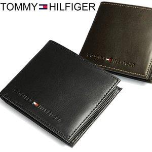 new product 8f588 1459b トミーヒルフィガー TOMMY HILFIGER 財布 メンズ 二つ折り財布 二つ折財布 本革 レザー ロゴ ブランド ブラック SAIFU さいふ  サイフ Men's
