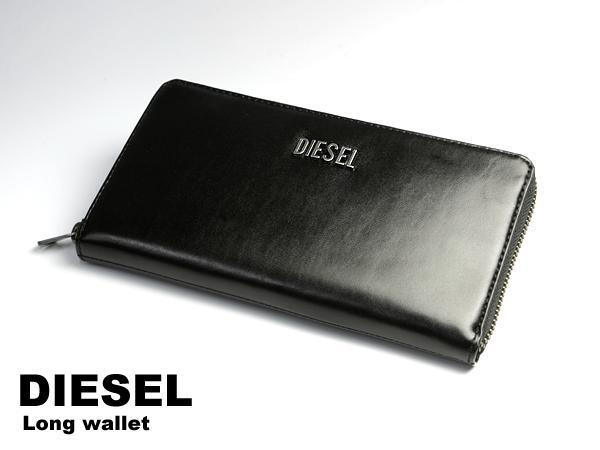 71c39e393238 DIESEL ディーゼル ラウンドファスナー 本革レザー メンズ 長財布 ブラック×パープル