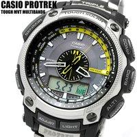 4dc60e9cc9 カシオ CASIO 腕時計 ソーラー腕時計 電波ソーラー プロトレック PRO TREK チタン 腕時計 うでどけい MEN'S.