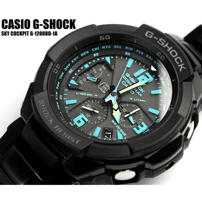 timeless design 20b3c 05206 【G-SHOCK/腕時計】Gショック ソーラー G-SHOCK ジーショック CASIO カシオ 腕時計 G-1200BD-1A スカイコックピット  メンズ うでどけい Men's