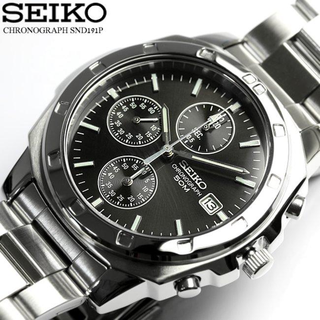 premium selection 8ded2 b27cc 逆輸入 SEIKO セイコー クロノグラフ メンズ 腕時計 ウォッチ うでどけい Men's クロノ 海外モデル SND191