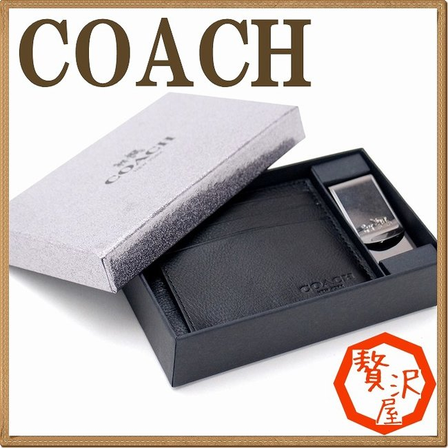competitive price c17a8 61f27 コーチ 財布 COACH メンズ マネークリップ カードケース 名刺入れ ギフトセット 64453BLK