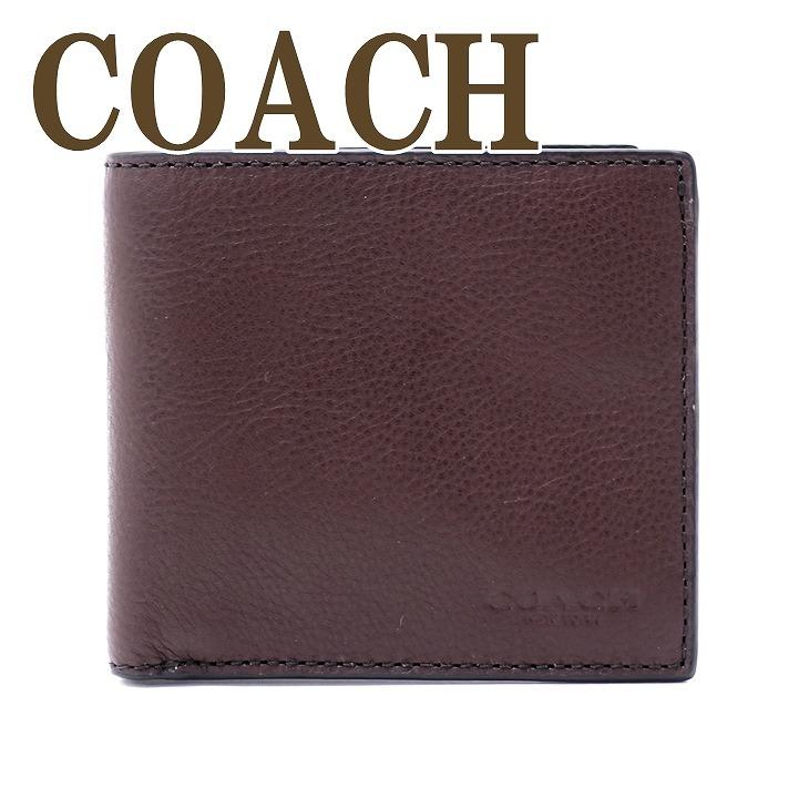 watch 8fd34 12fa6 コーチ COACH 財布 メンズ 二つ折り財布 レザー スポーツ カーフ 75003MAH