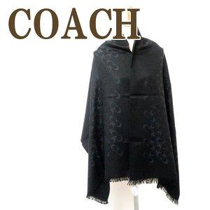 公式 コーチ COACH ストール レディース スカーフ シルク混 大判 ブラック黒 シグネチャー 76394BKBK, ハッピーボックス ラグジュアリー 19c27cb2
