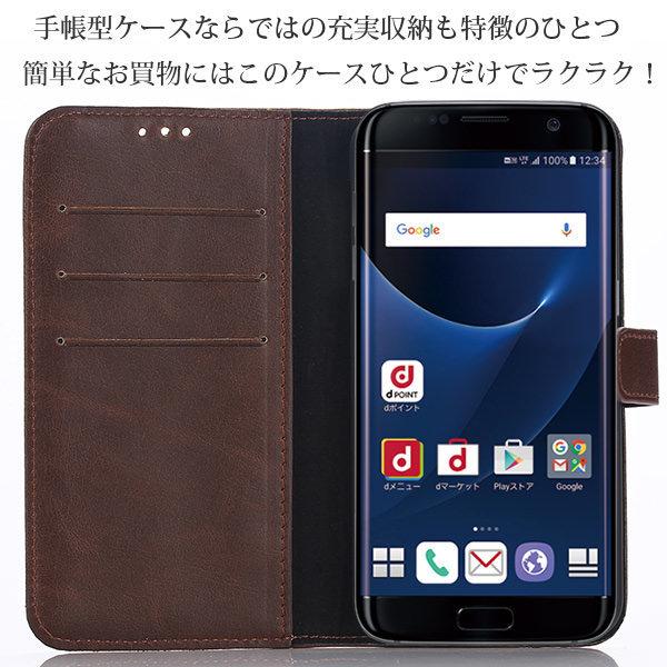 Galaxy S7 edge SC-02H SCV33 ケース アンティーク ビンテージ レザー 手帳型ケース スマホケース カバー ギャラクシー galaxy s7 エッジ sc-02h scv33