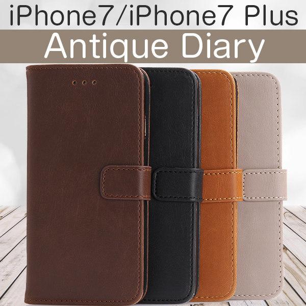 iPhone7 iPhone7 Plus ケース アンティーク ビンテージ レザー 手帳型ケース スマホケース カバー アイフォン7 アイフォン7 プラス iphone