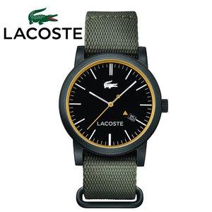 2019春の新作 【32】LACOSTE ラコステ メンズ 時計【2010837】ブラック×カーキ NATOバンド ラウンド, ウサキッズplus+ c3838bc2