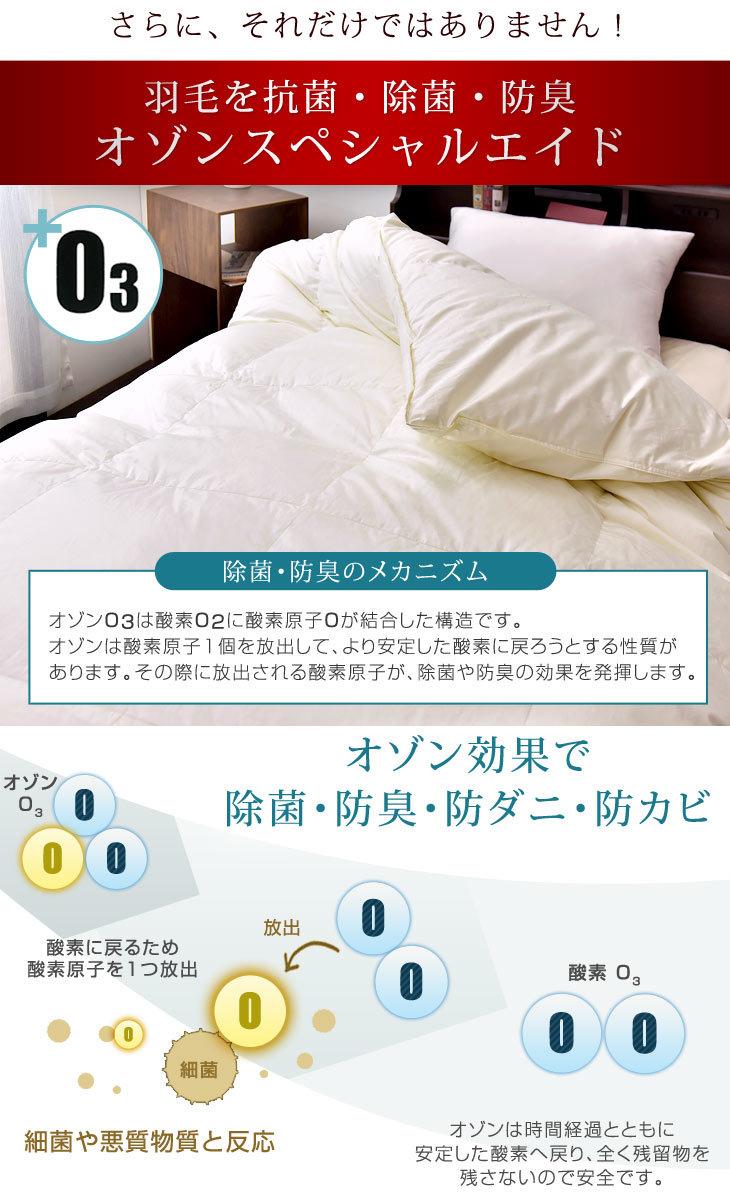 CILゴールドラベル ダブル 羽毛ふとん 綿100% アレルG 羽毛布団 日本製 グースダウン93% ロング 7年保証 掛け布団 ホワイト 【充填量1.6kg】 かさ高165mm以上 60サテン 400dp以上 抗菌防臭