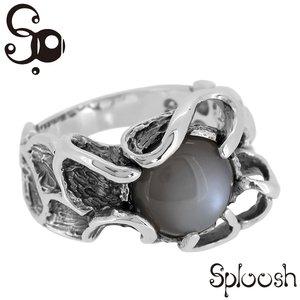 超歓迎 [Sploosh(スプルーシュ)]R-7 リング9~19号 リング9~19号 グレームーンストーン/リング SILVER/グレームーンストーン/メンズ Ring/男性用 リング/アクセサリー/Men's SILVER Ring/男性用 指輪 シルバーリング メンズ 指輪 silver925 [Sploosh(スプルーシュ)]自由な動きをするラインから生まれた空間と天然石の揺らめく輝きが見事に調和したリング, 御坊市:c8c4d84c --- rise-of-the-knights.de