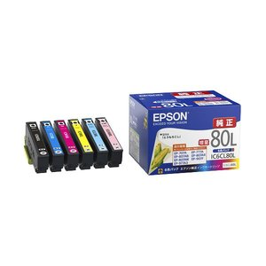 優れた品質 エプソン カラリオプリンター用 インクカートリッジ/増量タイプ(6色パック) IC6CL80L エプソン 消耗品(インク/メディア) 純正インク 純正インク/複数色パック, ハンの辻村:13ae4789 --- abizad.eu.org