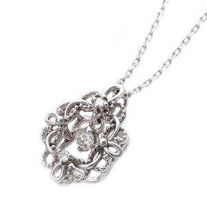 独特の素材 ダイヤモンド ペンダント ネックレス 0.05ct アラベスク K10 ホワイトゴールド アラベスク 花 フラワーモチーフ 0.05ct ペンダント 鑑別カード付き ダイヤネックレス, ヤヨイマチ:efacee08 --- psycexplorer.com