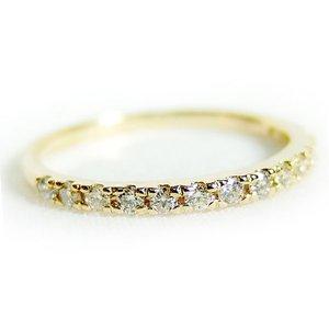 【テレビで話題】 ダイヤモンド リング ハーフエタニティ 0.2ct 8.5号 K18 イエローゴールド ハーフエタニティリング 指輪, ホームセンターエース 2175a2cd