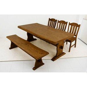予約販売 浮造りダイニングテーブル(テーブル単品)【幅180cm】【幅180cm】 木製(松/パイン) 木目調 アジャスター付き【】 木目調 天然木使用。ナチュラルカントリーにぴったりな食卓テーブル, ごちそうマルシェ:d3b12a25 --- abizad.eu.org