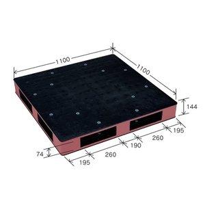 最前線の カラープラスチックパレット HB-R4・1111SC/物流資材【1100×1100mm ブラック/ブラウン 両面使用【1100×1100mm】 両面使用 HB-R4・1111SC 岐阜プラスチック工業【】 視認性の高いカラーパレットで作業効率UP!プラパレット, OPartsBox:0b0c35e5 --- mashyaneh.org