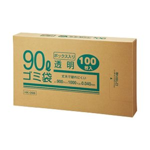 【税込?送料無料】 (まとめ) クラフトマン 業務用透明 メタロセン配合厚手ゴミ袋 90L BOXタイプ HK-098 1箱(100枚) 【×5セット】, 下閉伊郡 f8183efe