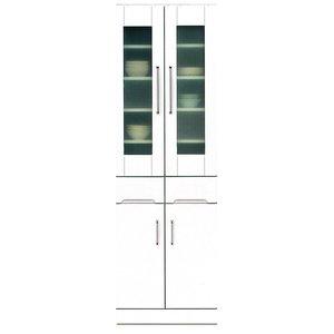【本物新品保証】 ダイニングボード ホワイト(白)【上置き付き】 幅60cm 飛散防止ガラス扉 日本製/耐震ラッチ/可動棚付き 日本製 ホワイト(白) 幅60cm【完成品 開梱設置】【】 シンプルで使いやすい上置き棚付きキッチンボード/カップボード, Echo:c825184f --- vouchercar.com