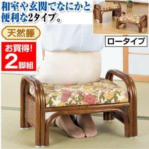 【お気に入り】 天然籐らくらく座椅子2脚組【ロータイプ 座面高23cm】 座面高23cm (リビング/玄関)【】 立ち上がりやすい丈夫な手すりつき。オットマンにも便利。, くすりのエンジェル:e49d448e --- blog.buypower.ng