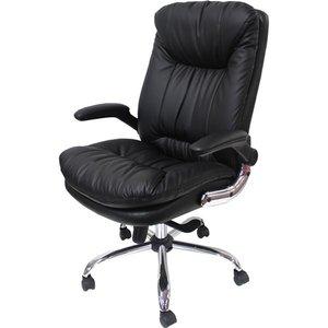 【在庫限り】 オフィスチェア(パソコンチェア/パーソナルチェア) ビートル 昇降式 角度高さ調節可 キャスター/肘付き ブラック(黒), IFC e-shop 30c5e417