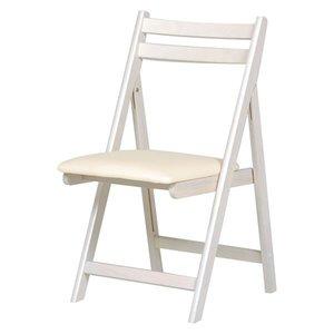 独創的 折りたたみ椅子(作業用チェア) 木製×合成皮革/合皮 WS ホワイト(白)【】, 古着、USED専門百貨店BIG2nd 6587a521