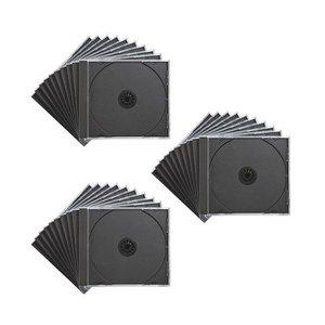 【売れ筋】 (まとめ)サンワサプライ DVD FCD-PN30BK・CDケースブラック FCD-PN30BK 1パック(30枚)【×3セット】 一般的な音楽用CDケースと同じ厚さ10mmのプラケース。, 小国町:2830043d --- pyme.pe