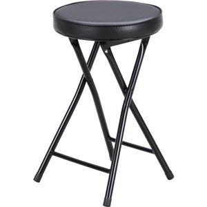 【格安SALEスタート】 折りたたみ椅子/スツール【丸型 ブラック×ブラック】 幅32cm コンパクト【6個セット コンパクト】 幅32cm【】 コンパクトで移動に便利な折り畳み式パイプ椅子 丸椅子丸イス フォールディングチェア 丸いす 折りたたみイス フォールディングチェアー チェア 椅子 いす コンパクトチェア, ソデガウラシ:4bac3878 --- wildbillstrains.com