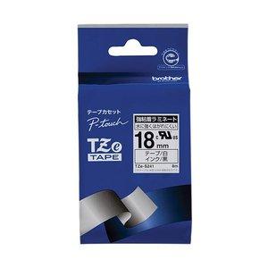 激安特価 (まとめ) ブラザー ピータッチ TZeテープ強粘着ラミネートテープ ピータッチ 18mm 白 白/黒文字/黒文字 18mm TZE-S241 1個【×10セット】 P-touch用ラミネートテープ, 紋別郡:ce782b79 --- extremeti.com