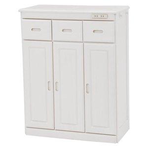 手数料安い キッチンカウンター ホワイトウォッシュ 幅69×奥行34×高さ91cm 完成品 R6524WS【】, CRAZYBOO a421eb73
