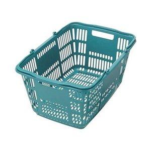 【当店限定販売】 (まとめ)スーパーメイト ショッピングバスケット33L ブルーグリーン CB-33EBG 1個【×20セット】, 水着屋 e1b37382