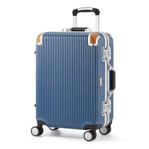 独特な 軽量 スーツケース/旅行カバン 【34L ブルー】 1~3泊用 ポリカーボネード TSAロック 4輪ダブルキャスター スイスミリタリー【】, DreamGolf cc92b99f