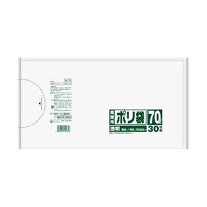 選ぶなら (まとめ)日本サニパック 業務用ポリ袋 70L透明 N-7C 1パック(30枚)【×10セット】, ガルダローバミラノ 7a50186d