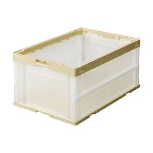 ラウンド  (まとめ) TANOSEE TANOSEE 折りたたみコンテナ 75L 1台 アイボリー/透明 1台【×5セット】 (まとめ) コンテナ・容器 折りたたみコンテナ, ガラスshopISHIZUKA:2199f6ec --- peggyhou.com
