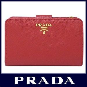 ba9a68a2a1d2 PRADA プラダ 二つ折り 財布 サフィアーノ レッド マルチカラー 1ML225 SAFFIANO MULTICOLOR  ROSSO+BEGONIA ZLP F0NBX