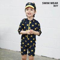 6830dcb76d9 男の子 水着 キャップ 2点セット スイムウェア サロペット プール ビーチ 夏 海水浴 キッズ ジュニア 日焼.