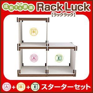 贈り物 Rack Luck Rack A+B+Eラック ラックラック スターターセット A+B+Eラック シェルフ 棚 シェルフ 収納 組み立て 壁面 RL-S3S【送料無料】【送料無料】ラック シェルフ 棚 収納 組み立て 壁面, ミナト電機工業:a026e530 --- 5613dcaibao.eu.org