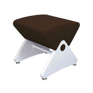 再再販! 見せるスツール アジャスター付き ホワイト(布:ダークブラウン/ABS)【Mona.Dee】モナディー WAS01S サロン、オフィスが続々導入!おしゃれ木製デザインチェア/椅子, カスヤグン:0a44885c --- cartblinds.com
