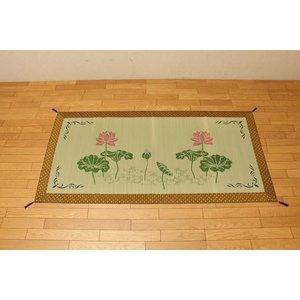 【メーカー直送】 純国産 袋織 い草御前(仏前)ござ 『蓮の花』 約88×180cm, ねこねこにっと cf782175