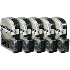 全国総量無料で キングジム PROテープロング SS12KL 白に黒 12mm SS12KL 12mm 20個 白に黒 大量に使うオフィスにはロングタイプ, 丸久金物:869a8782 --- turkeygiveaway.org